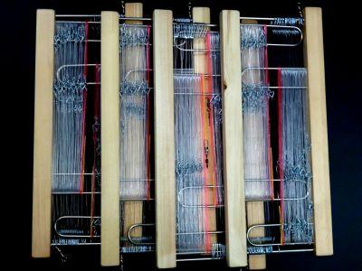 【サルカン仕様】8個セット/木製掛け枠付きキンメさがり20本針■幹糸40号 枝間1.5m/枝糸18号 85cm /ムツ針19号